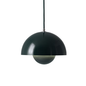 Flowerpot Pendant Light - Dark Green