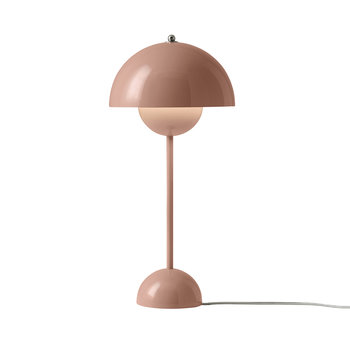 Flowerpot Table Lamp - Beige Red