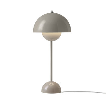 Flowerpot Table Lamp - Grey Beige