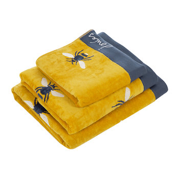 Botanical Bee Towel - Gold