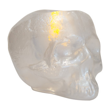 Still Life Skull Votive - White