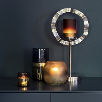 Gold Banded Tealight Holder