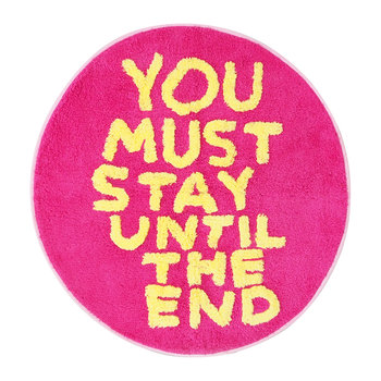David Shrigley Shaggy Floor Mat - You Must Stay