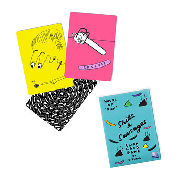 David Shrigley Snap Card Game - Sh*ts & Sausages