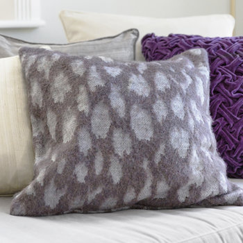 Purple Leopard Pillow - 50x50cm