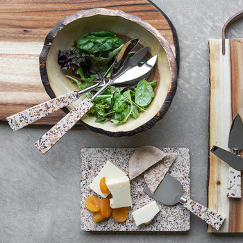 Terrazzo Cheese Platter With Knife