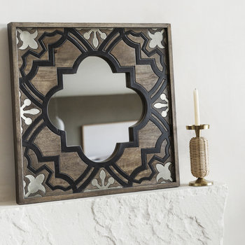 Carved Wooden Wall Mirror