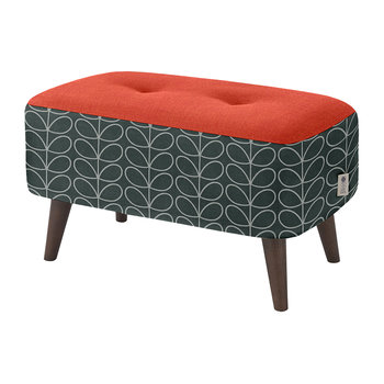 Donegal Pouf - Small - Charcoal/Tomato