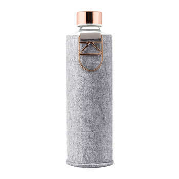 Mismatch Water Bottle with Felt Cover - Rose Gold