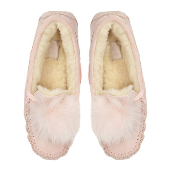 Women's Dakota Pom Pom Slippers - Quartz