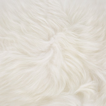 New Zealand Sheepskin Cushion - 28x56cm - Ivory