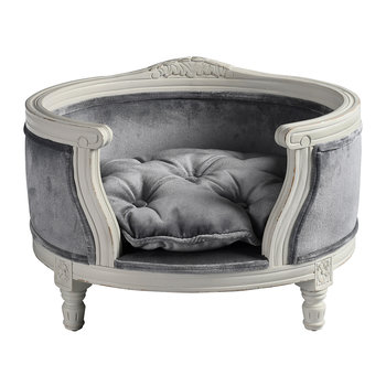 George Velvet Pet Sofa - Grey