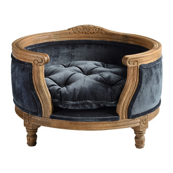 George Velvet Pet Sofa - Royal Blue - Small