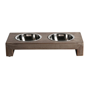 Milano Weathered Driftwood Pet Feeder