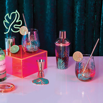 Bloom Shaker and Glass Set