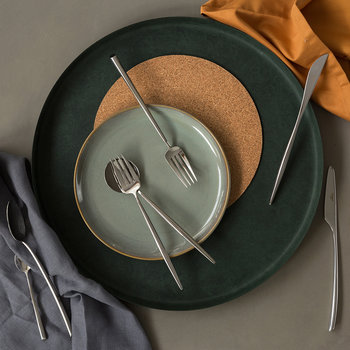Moon Dessert Spoon - Silver