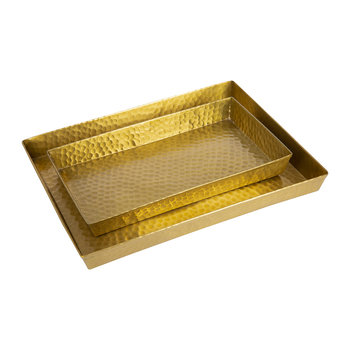 Verum Tray - Set of 2 - Antique Brass