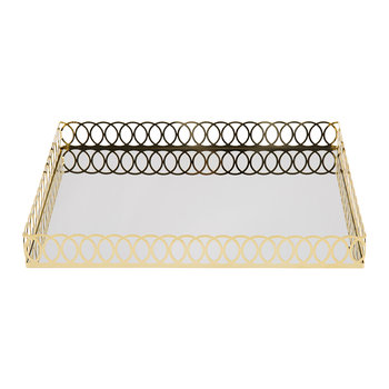 New York Bathroom Tray - Gold