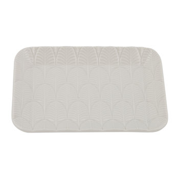 Peacock Soap Dish - White