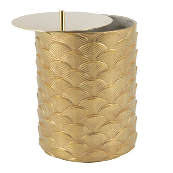 Peacock Waste Basket - Gold