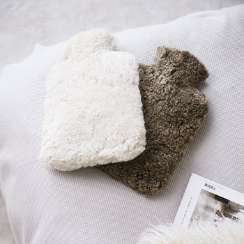 Sheepskin Hot Water Bottle - Ivory