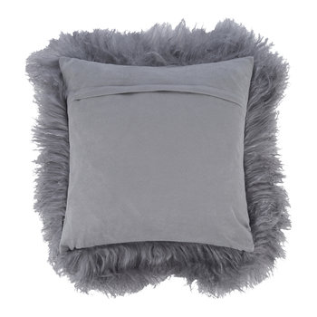 Tibetan Sheepskin Pillow - 40x40cm - Steel