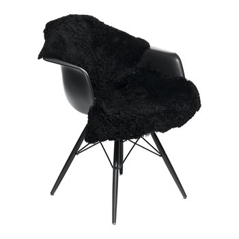 New Zealand Sheepskin Rug - Short Curly Wool - 90x60cm - Black