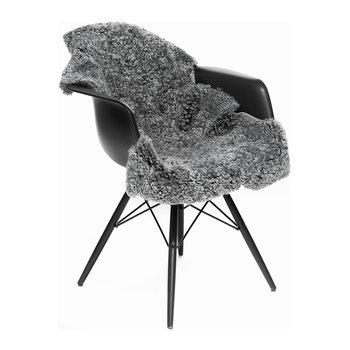 New Zealand Sheepskin Rug - Short Curly Wool - 90x60cm - Graphite
