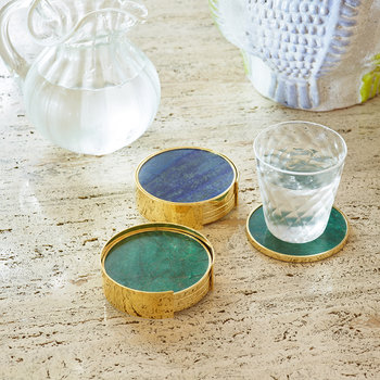 Lucas Coaster - Set of 4 - Jade