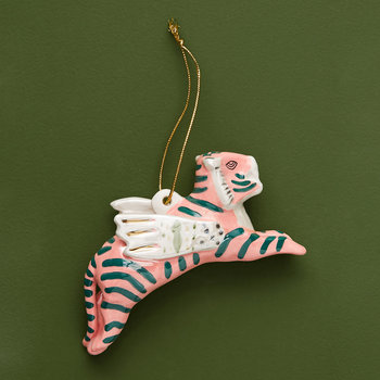 Art Knacky Tiger Ornament - Pink