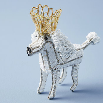 Regal Poodle Ornament