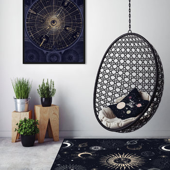 Moon Party Vinyl Floor Mat - 99x150cm