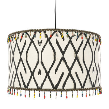 Mudcloth Drum Ceiling Light