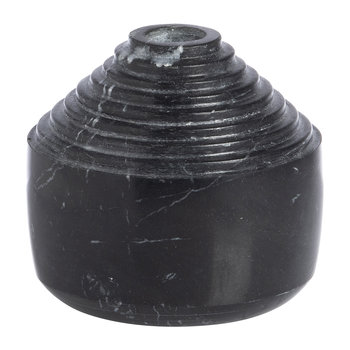 Laps Candle Holder - Black Marble