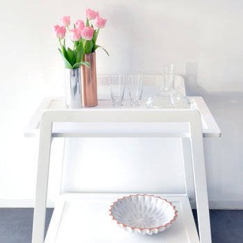 John Trolley Table - White