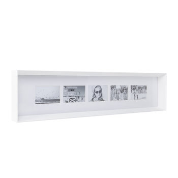 Prado Long Photo Frame - White