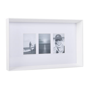 Prado Triple Photo Frame - White