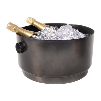 Rondo Stainless Steel Party Bucket - Black