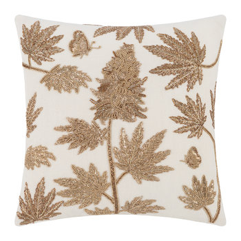 Botanist Ganja Pillow - Gold/White
