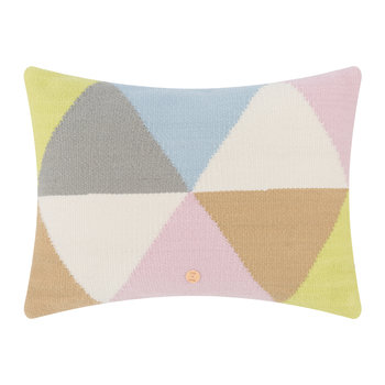 Harlequin Helix Pillow - Pastel
