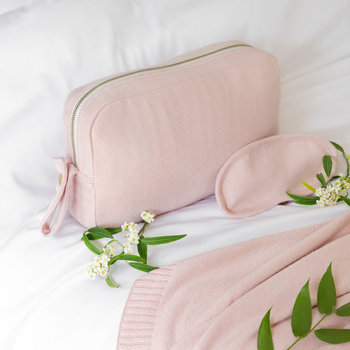 Plain Knit Travel Kit - Blush