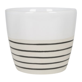 Clef Stripe Mug - Black/White