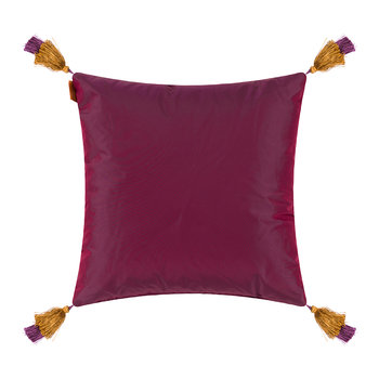 Rialto Murano Cushion with Tassels - 45x45cm - Purple