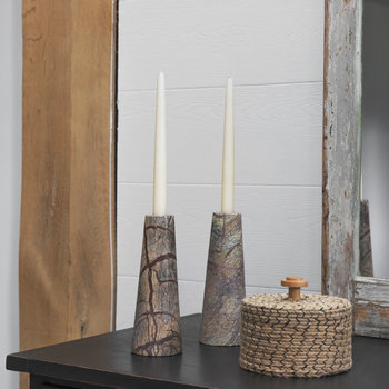 Forest Marble Candlestick