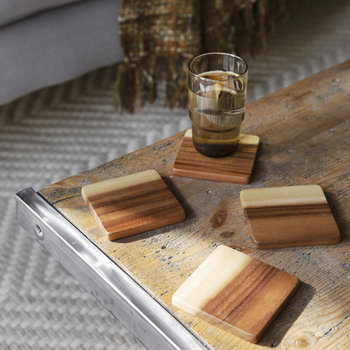 Acacia Wood Coaster - Set of 4