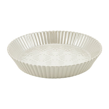 Aurora Pie Dish - White