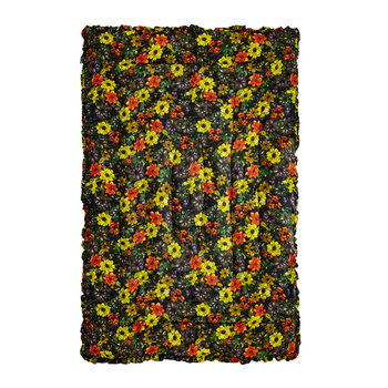 Flower Bomb Quilted Eiderdown - Yellow - 140x205cm