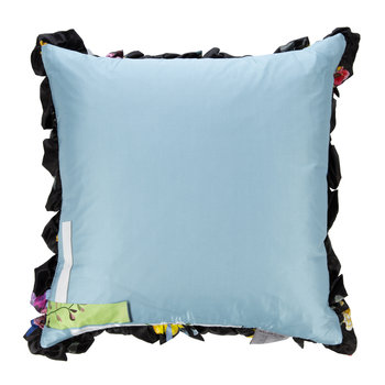 Graphic Satin Reversible Pillow - Duck Egg/Black - 50x50cm
