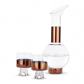 Tank Copper Wine Glass Set