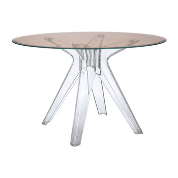 Sir Gio Transparent Round Table - Pink